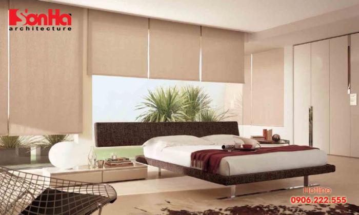 Phương án thiết kế phòng ngủ master với bố trí khoa học có nhà vệ sinh khép kín