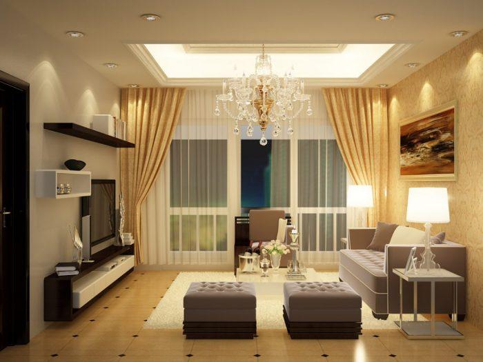 Rèm cửa châu Âu phù hợp trang trí không gian phòng khách hiện đại hành Thổ