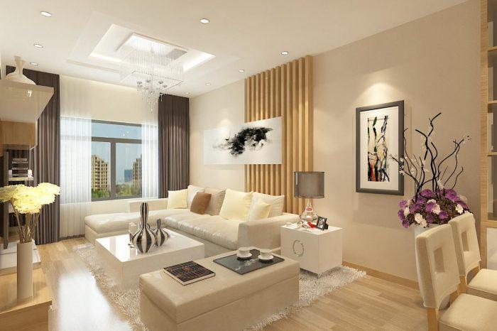 Thêm một cách bố trí không gian nội thất phòng khách căn hộ mệnh Thủy