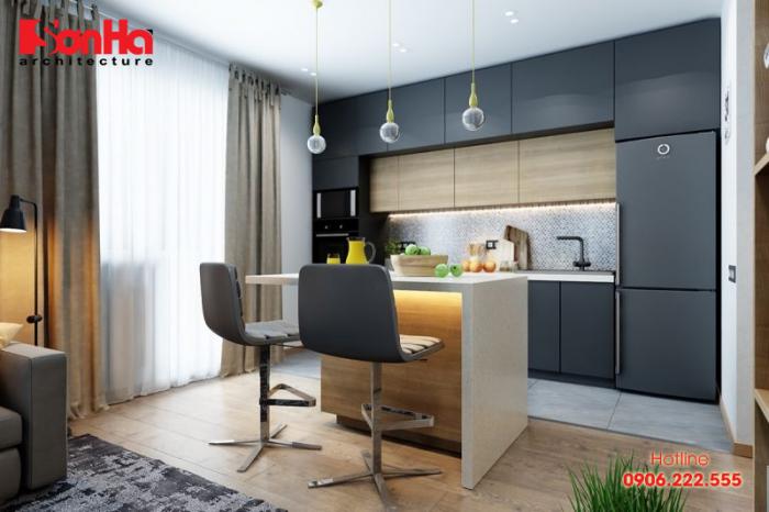 Thêm một ý tưởng để trang trí không gian bếp với mẫu bủ bếp laminate