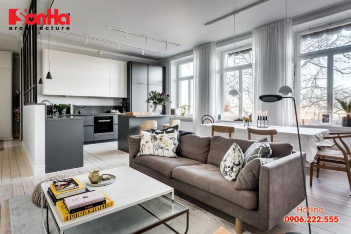 Thiết kế nội thất căn hộ chung cư cao cấp đẹp phong cách scandinavian