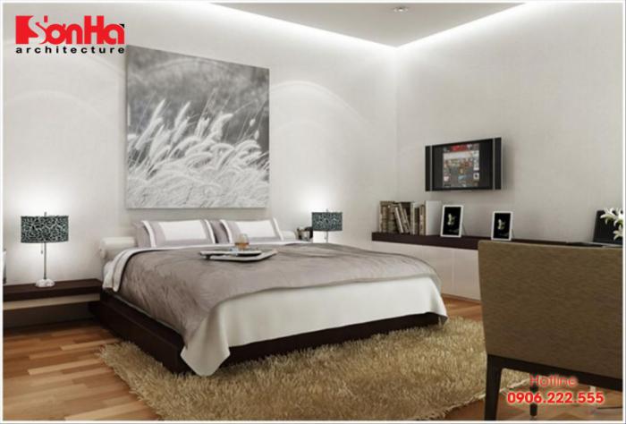 Thiết kế phòng ngủ màu trắng tạo nên sự giản dị nhưng vẫn rất sang trọng