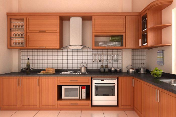 Thiết kế thi công tủ bếp chữ L gỗ công nghiệp cho nhà phố tại Hải Phòng