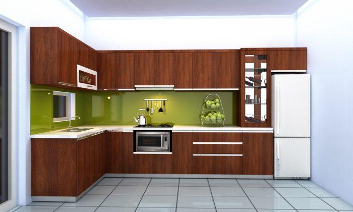Tủ bếp chữ L có thể được thiết kế theo nhiều phong cách khác nhau