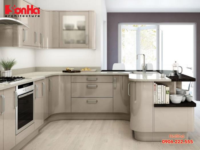 Vật liệu laminate được yêu thích trong làm tủ bếp các phong cách và màu sắc