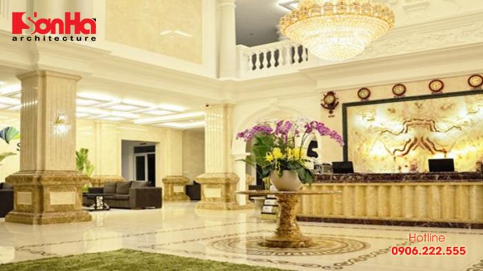 Việc bày trí nội thất sảnh cần phải hướng đến sự ấm cúng và tự nhiên