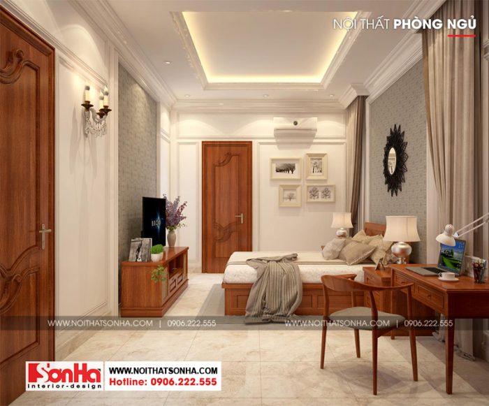 Dù không sở hữu diện tích lớn nhưng phòng ngủ khá thoáng nhờ thiết kế đẹp