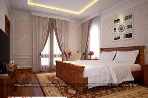 11 Mẫu nội thất phòng ngủ 2 biệt thự tân cổ điển mặt tiền 10m tại hà nội sh btp 0132