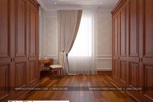 12 Thiết kế nội thất khu thay đồ phòng ngủ 2 biệt thự tân cổ điển tại hà nội sh btp 0132