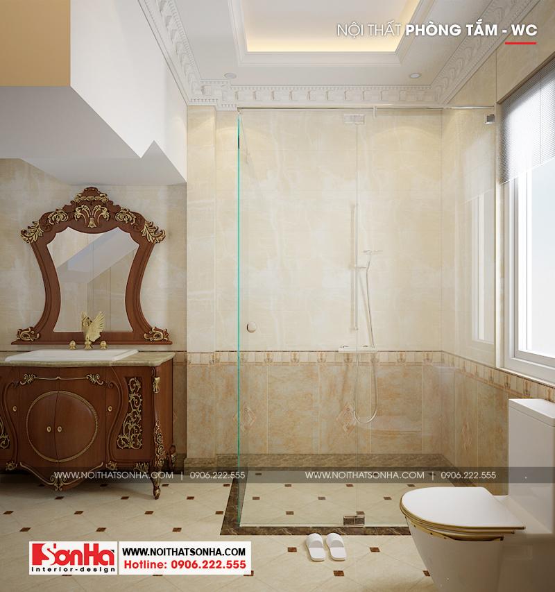 Thiết kế phòng tắm và vệ sinh biệt thự sang trọng tại Senturia Vườn Lài