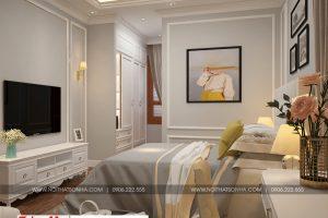 14 Thiết kế nội thất phòng ngủ 3 biệt thự tân cổ điển 3 tầng tại hà nội sh btp 0132