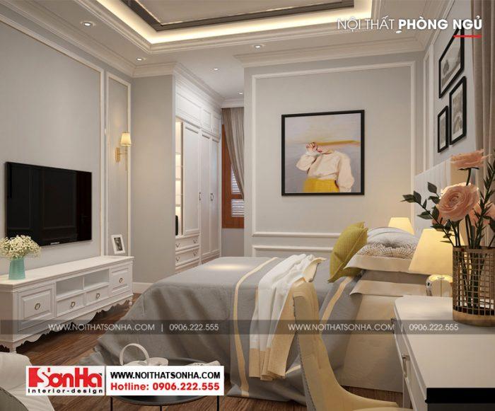 Điểm chung trong các thiết kế phòng ngủ biệt thự tân cổ điển là nét tinh tế