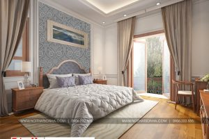 15 Mẫu nội thất phòng ngủ 4 biệt thự tân cổ điển mặt tiền 10m tại hà nội sh btp 0132