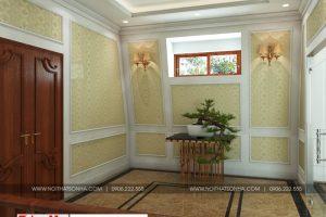 18 Thiết kế nội thất sảnh thang biệt thự tân cổ điển 3 tầng  tại hà nội sh btp 0132