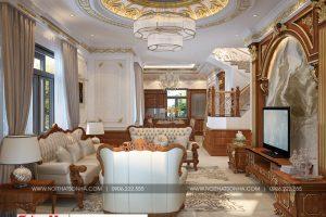 2 Mẫu nội thất phòng khách tân cổ điển khu đô thị Senturia Vườn lài An Phú Đông Sài Gòn