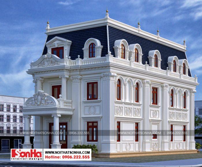 Kiến trúc và nội thất biệt thự tân cổ điển 3 tầng có sự thống nhất cao