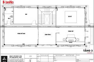 23 Mặt bằng công năng tầng 3 biệt thự tân cổ điển 3 tầng tại hà nội sh btp 0132