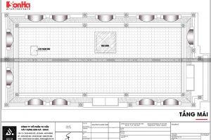 24 Mặt bằng công năng tầng mái biệt thự tân cổ điển mặt tiền 10m tại hà nội sh btp 0132