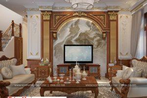 3 Thiết kế nội thất phòng khách đẹp khu đô thị Senturia Vườn lài An Phú Đông Sài Gòn