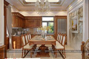 4 Mẫu nội thất phòng bếp ăn tân cổ điển khu đô thị Senturia Vườn lài An Phú Đông Sài Gòn