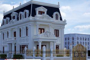 4 Thiết kế biệt thự tân cổ điển mặt tiền 10m tại hà nội sh btp 0132