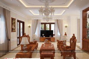 5 Mẫu nội thất phòng khách biệt thự tân cổ điển tại hà nội sh btp 0132