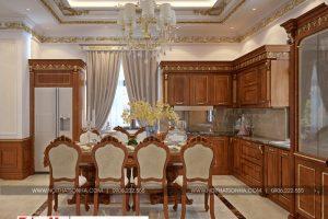 5 Thiết kế nội thất phòng bếp ăn đẹp khu đô thị Senturia Vườn lài An Phú Đông Sài Gòn