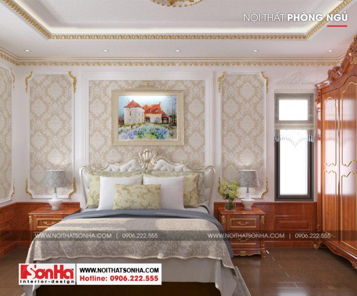 Thiết kế phòng ngủ tân cổ điển đẹp và được bố trí gọn gàng