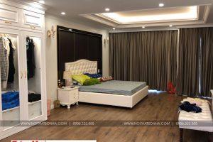 7 Ảnh thực tế nội thất phòng ngủ tân cổ điển khu nhà phố kinh doanh shophouse vạn phúc hà nội