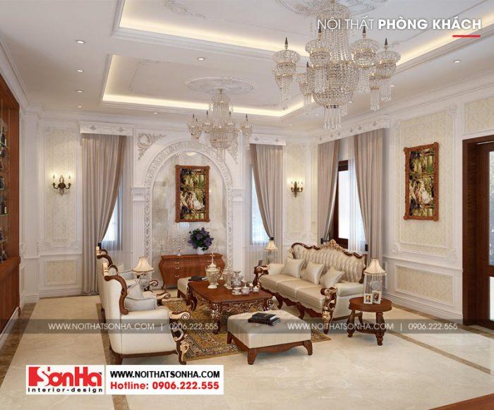 Thêm một phương án thiết kế nội thất phòng khách cho ngôi biệt thự đẹp này