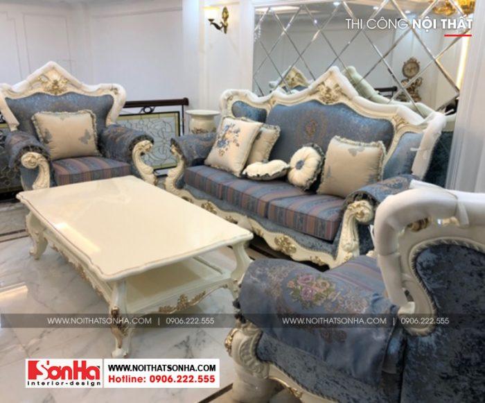 Bộ sofa bọc da cho không gian nội thất phòng khách thêm đẹp mắt