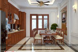 8 Thiết kế nội thất phòng bếp ăn biệt thự tân cổ điển tại hà nội sh btp 0132