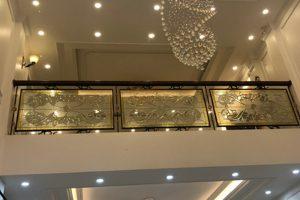 9 Ảnh thực tế nội thất sảnh tầng 1 khu nhà phố kinh doanh shophouse vạn phúc hà nội