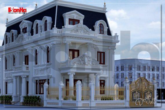 BÌA Thiết kế biệt thự tân cổ điển mặt tiền 10m đẹp tại hà nội sh btp 0132