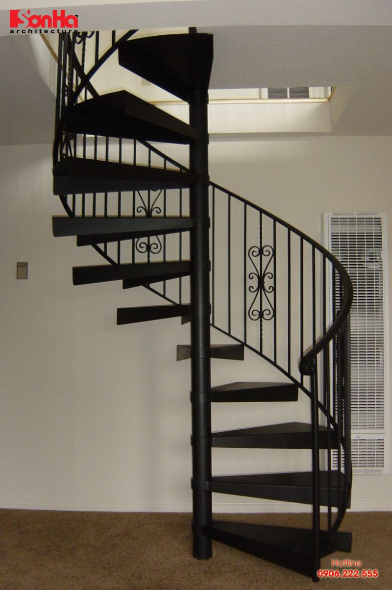 Cầu thang xoắn có tạo hình bắt mắt và hợp xu hướng mới