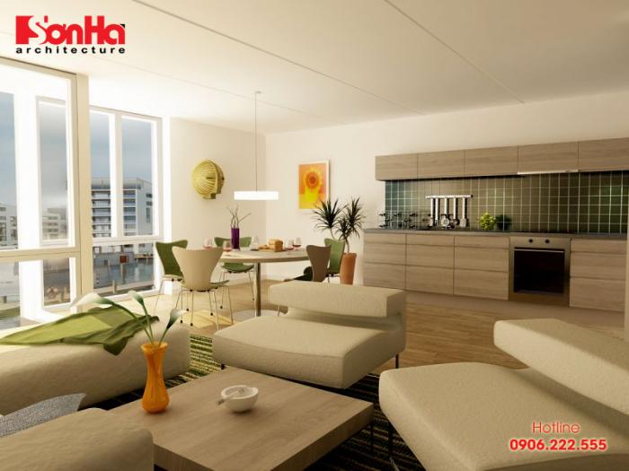 Đây cũng là một trong những mẫu phòng khách hiện đại, đơn giản, ấn tượng