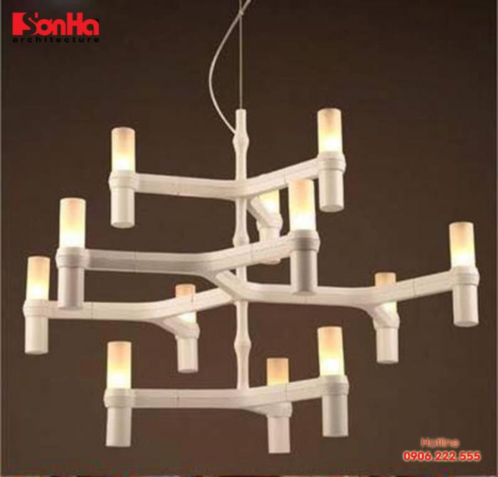 Đèn thả cũng là loại đèn được sử dụng nhiều trong phòng khách có không gian nhỏ