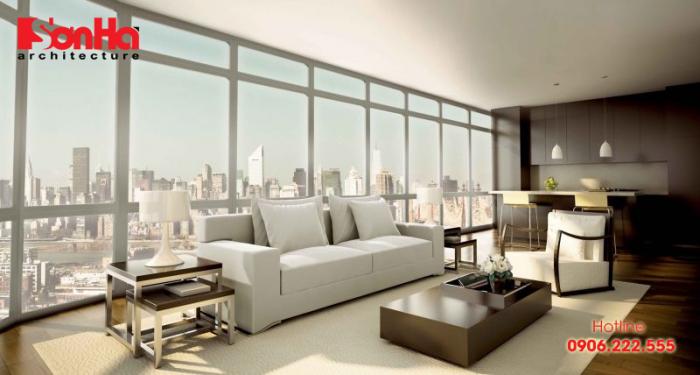 Không gian phòng khách hiện đại thể hiện sự đẳng cấp của gia chủ