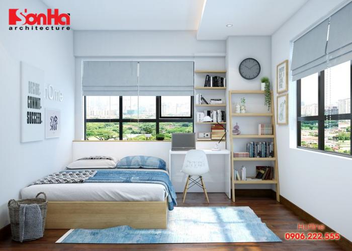Không gian phòng ngủ hiện đại và thoáng đãng cho bé trai năng động