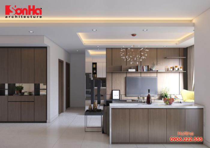 Mẫu bếp đẹp và hiện đại cho thiết kế nội thất nhà phố ấn tượng