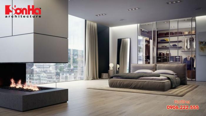 Mẫu phòng ngủ đẹp với thiết kế nội thất không góc chết