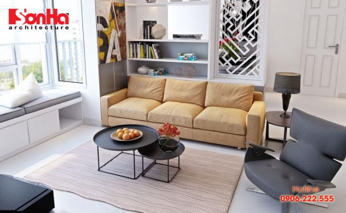 Mẫu sofa đẹp làm sáng bừng không gian phòng khách hiện đại tiện nghi
