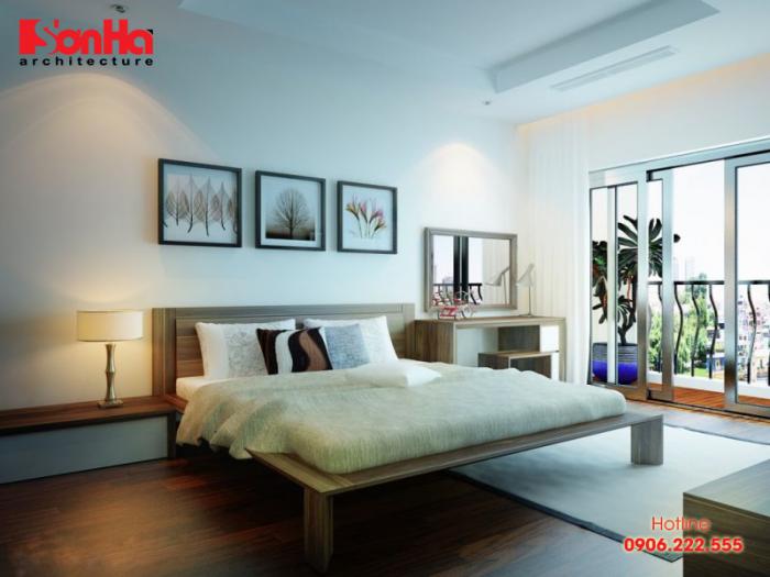 Mẫu thiết kế nội thất phòng ngủ thoáng rộng đón nhiều ánh sáng và gió