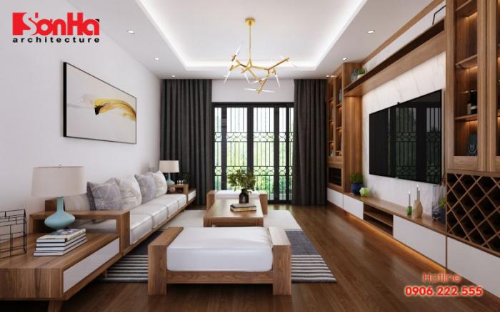 Mẫu thiết kế phòng khách căn hộ cho gia chủ thuộc cung Kim Ngưu