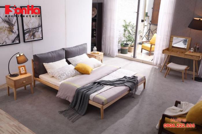 Mẫu thiết kế phòng ngủ đẹp 18m2 theo phong cách Scandinavian
