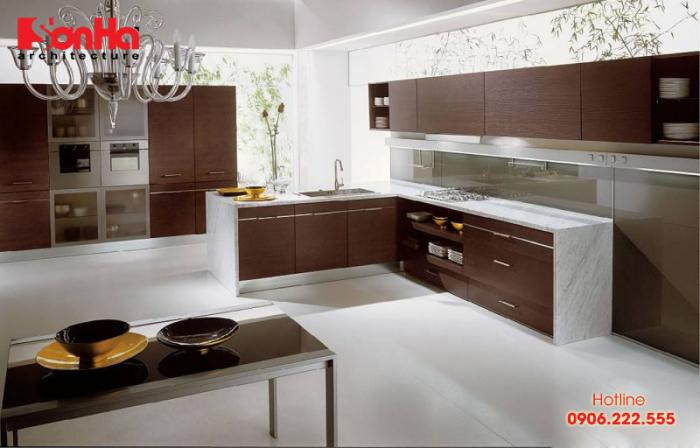Một mẫu tủ bếp hoàn mỹ sẽ làm nên không gian phòng bếp tiện nghi