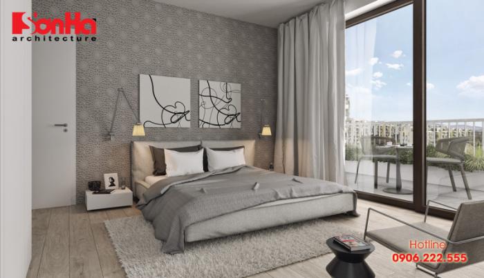 Nội thất phòng ngủ đẹp phong cách hiện đại hợp phong thủy