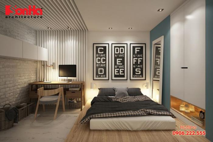 Phòng ngủ đẹp với giường ngủ thấp và cách trang trí đẹp mắt