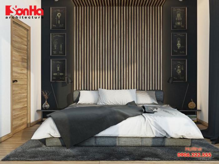 Phòng ngủ gam màu trầm thường thì nó phù hợp với chủ nhân là người lớn tuổi