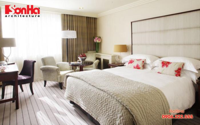 Phòng ngủ hợp phong thủy được thiết kế lấy gió lấy sáng tốt